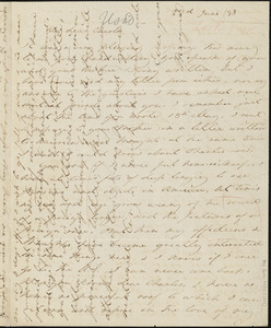 Margaret Fuller autograph letter signed to Charles King Newcomb, 22 June 1848