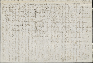 Margaret Fuller autograph letter signed to Charles King Newcomb, Reiti, Italy, 24 November 1848