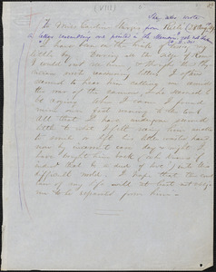 Margaret Fuller autograph letter to Caroline Sturgis, Rieti, Italy, 28 August 1849
