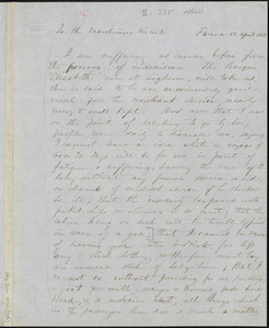 Margaret Fuller autograph letter signed to Marchesa Arconati Visconti, Florence, 12 April 1850