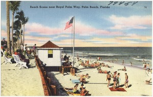 Beach scene near Royal Palm Way, Palm Beach, Florida