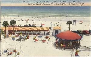 Amusement center- Long Beach Resort, the world's most beautiful bathing beach, Panama City Beach, Florida