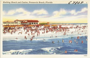Bathing beach and casino, Pensacola Beach, Florida