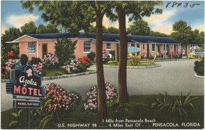 Azalea Motel, 1 mile from Pensacola Beach, U.S. Highway 98, 4 Miles east of, Pensacola, Florida
