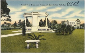 Constitution bldgs. And Monument, Constitution Park, Port St. Joe, Florida`