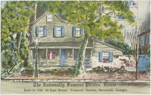 The nationally famous pirates' house, built in 1754, 20 East Broad- Trustees' Garden, Savannah, Georgia