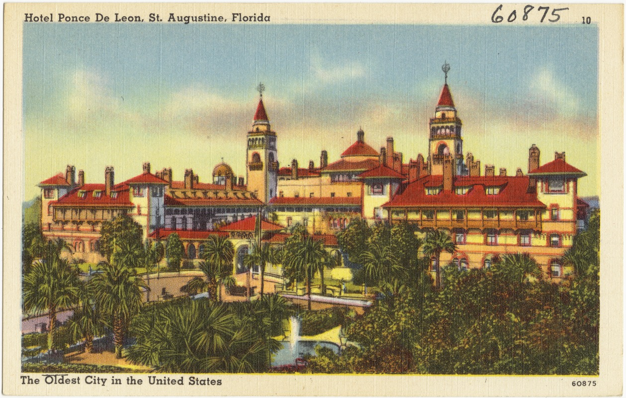 Hotel Ponce De Leon, St. Augustine, Florida, the oldest city in the United States