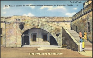 The arch at Castillo de San Marcos National Monument, St. Augustine, Florida, the oldest city in the United States