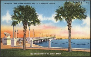 Bridge of Lions across Matanzas Bay, St. Augustine, Florida, the oldest city in the United States