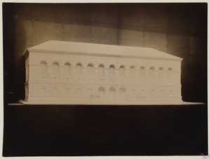 Plaster model of the McKim Building