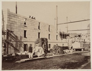 Blagden Street side, construction of the McKim Building