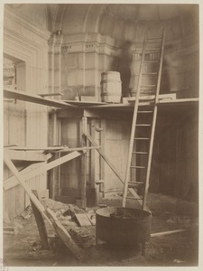 Alcove in Dartmouth St. vestibule, construction of the McKim Building