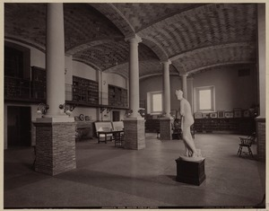Periodical room, partially furnished, construction of the McKim Building