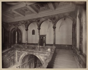 Arcade and staircase, construction of the McKim Building
