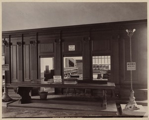 Book delivery room, Bates Hall, construction of the McKim Building