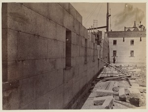 West wall of Courtyard, construction of the McKim Building