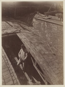 Construction of the arches underneath Grand Staircase, construction of the McKim Building