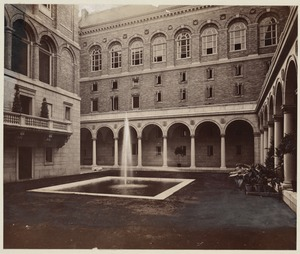 Courtyard looking south, construction of the McKim Building