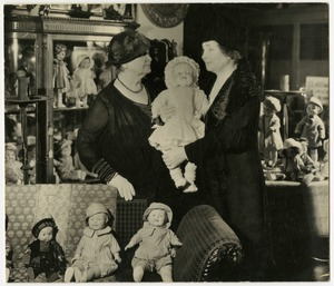 Sullivan Macy and Keller Visiting a Doll Museum