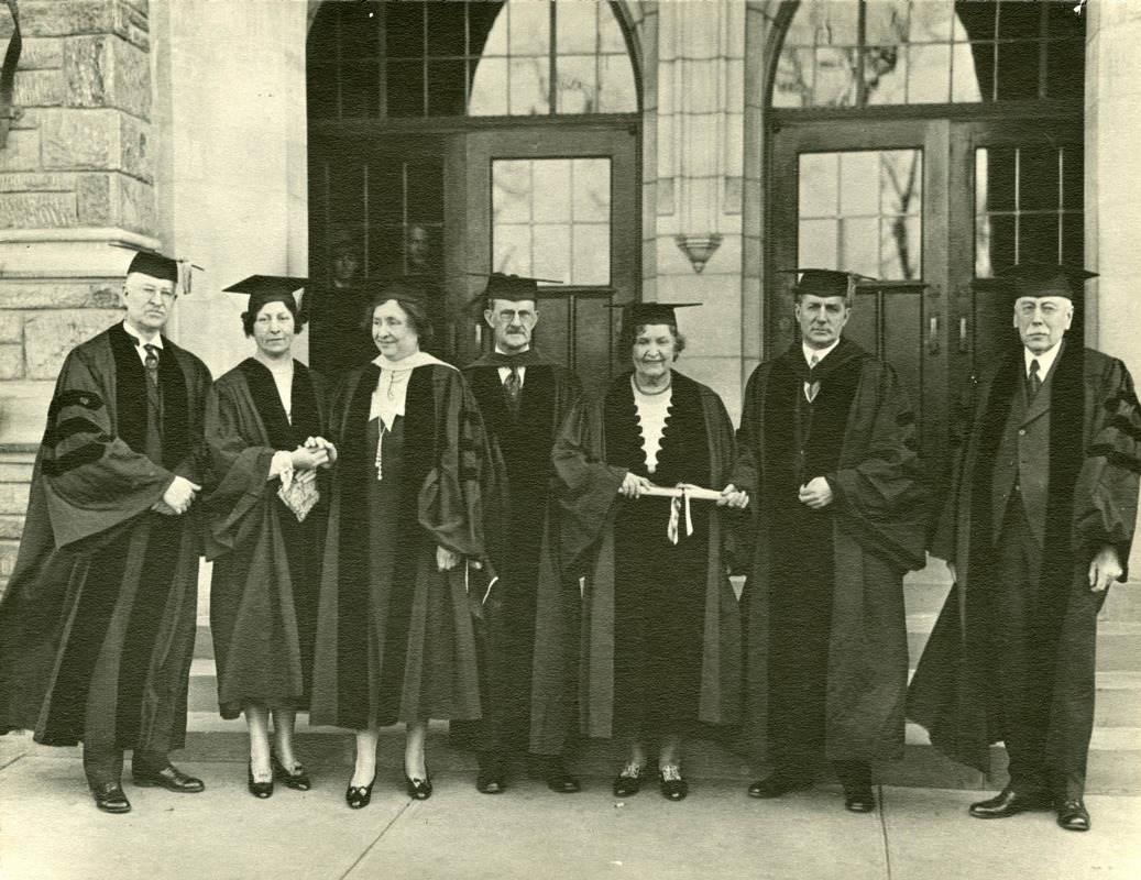 Anne Sullivan Accepting an Honorary Degree from Temple University