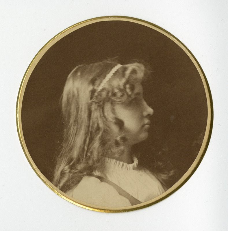 Circular Profile Portrait of Helen Keller