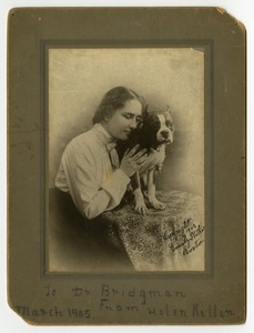 Helen with Phiz the Dog