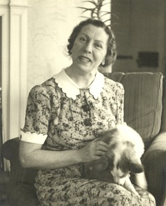 Polly Thomson with Dog