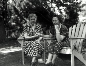 Helen Keller and Polly Thomson