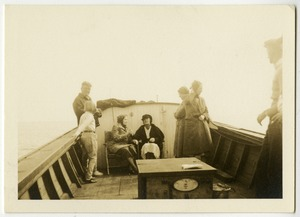 Keller and Thomson on a Boat