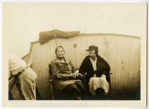 Helen Keller and Polly Thomson on a Boat