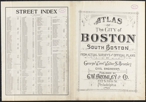 Atlas of the city of Boston, South Boston ; street index