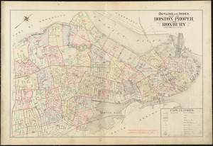 Outline and index map of Boston proper and Roxbury