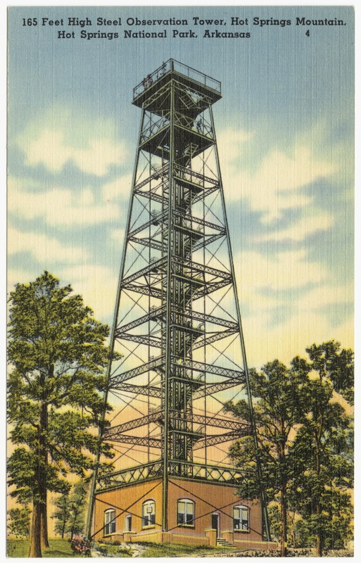 165 feet high steel observation tower, Hot Springs Mountain, Hot Springs National Park, Arkansas