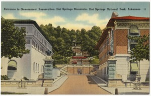 Entrance to government reservation, Hot Springs Mountain, Hot Springs National Park, Arkansas