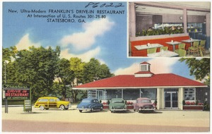 New, ultra-modern Franklin's Drive-in Restaurant, at intersection of U.S. route 301-25-80, Statesboro, Ga.