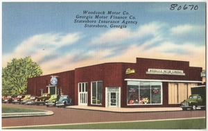 Woodcock Motor Co., Georgia Motor Finance Co., Statesboro Insurance Agency, Statesboro, Georgia