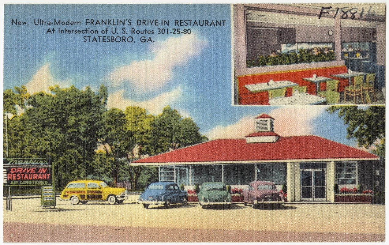 New Ultra Modern Franklins Drive In Restaurant At Intersection Of