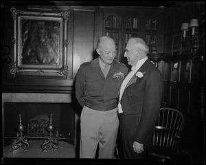 General Eisenhower talking to Boston University President Daniel L. Marsh