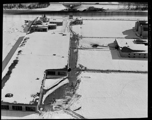 Aerial view of the laundry, auto plate shop, and foundry of the Walpole Prison