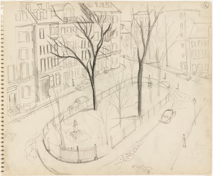 Sketch of Louisburg Square, Boston