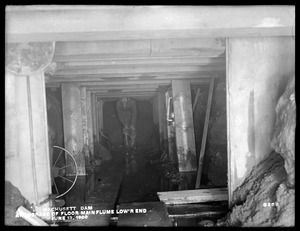 Wachusett Dam, Anchorage of the floor of the main flume, lower end, Clinton, Mass., Jun. 13, 1900