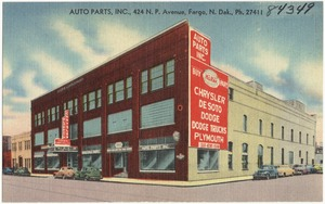 Auto Parts Inc., 424 N. P. Avenue, Fargo, N. Dak., Ph. 27411
