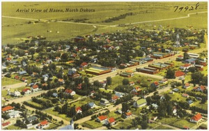 Aerial view of Hazen, North Dakota