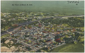 Air view of Minot, N. Dak.
