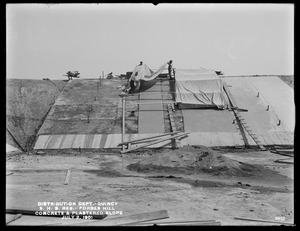 Distribution Department, Southern High Service Forbes Hill Reservoir, concrete and plastered slope, Quincy, Mass., Jul. 2, 1901