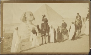 HSC and JGC on camels near Sphinx and Pyramids at Giza