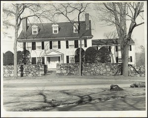 Ashdale Farm. View of front of Main House in winter/early spring.