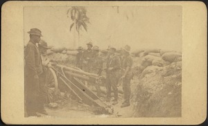 Dynamite gun and crew. H. A. Borrowe commanding