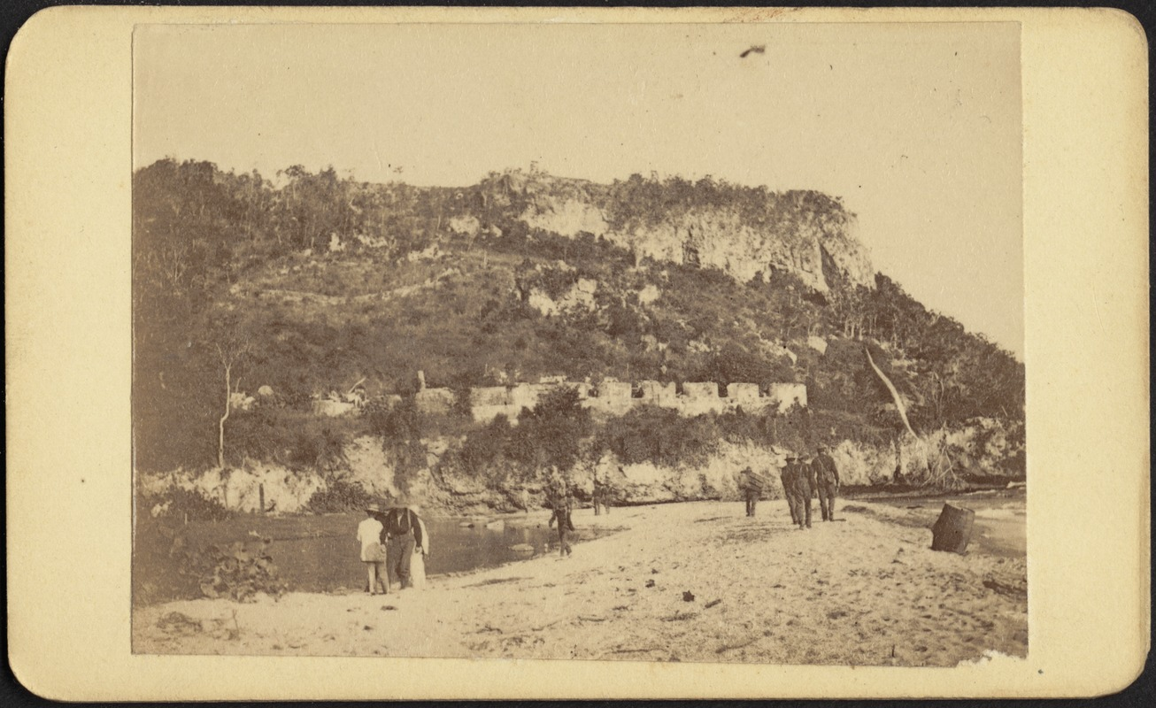 """Beach and old fort at Siboney"""