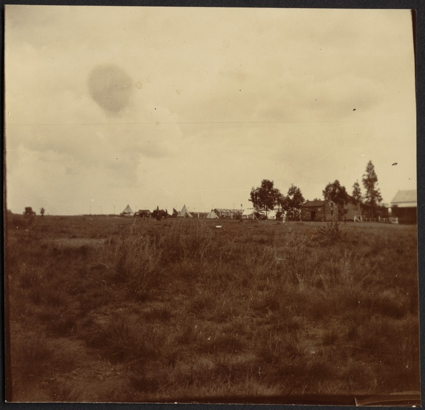 Distant view of prison camp